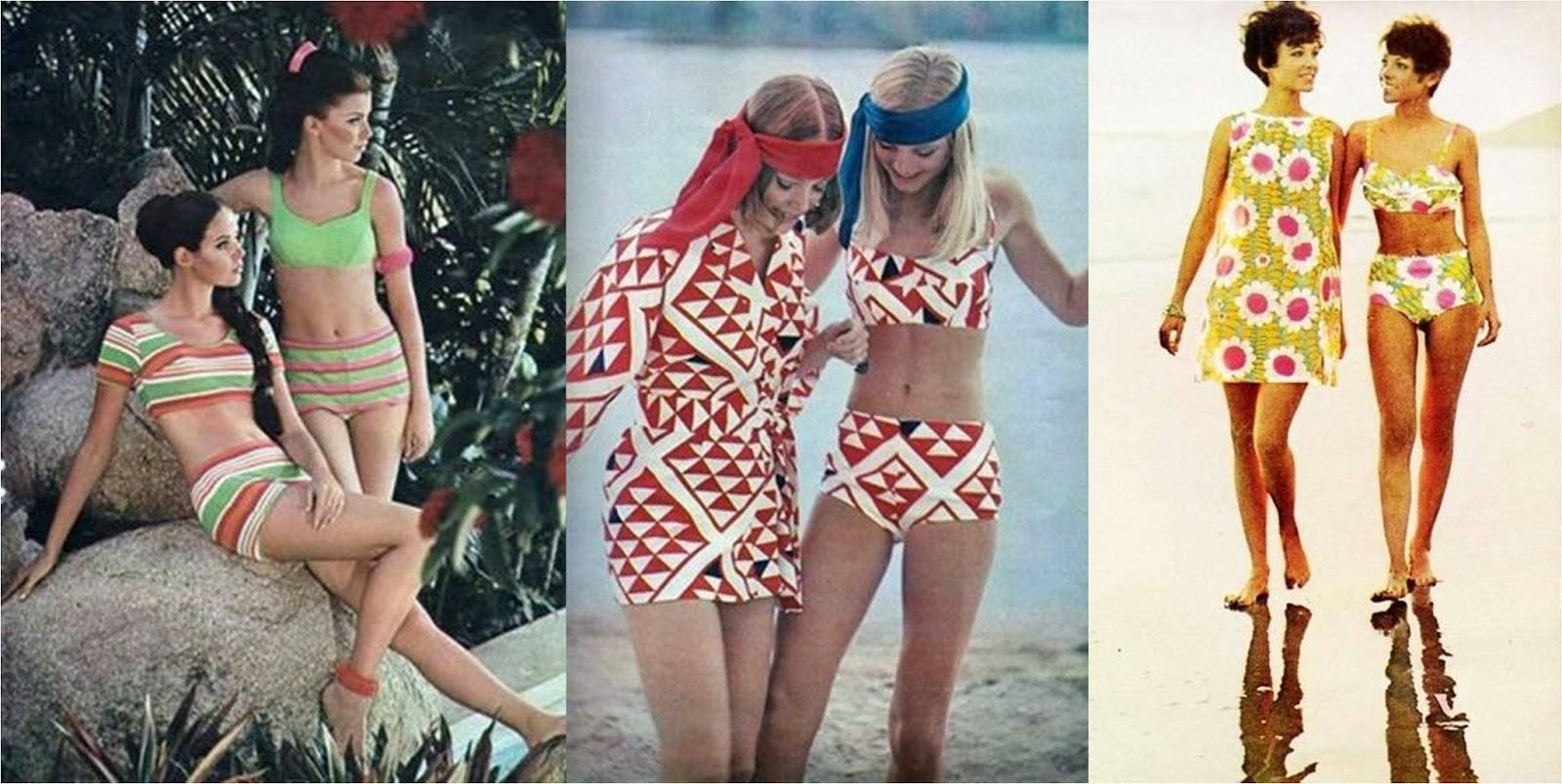 anos 70 beachwear